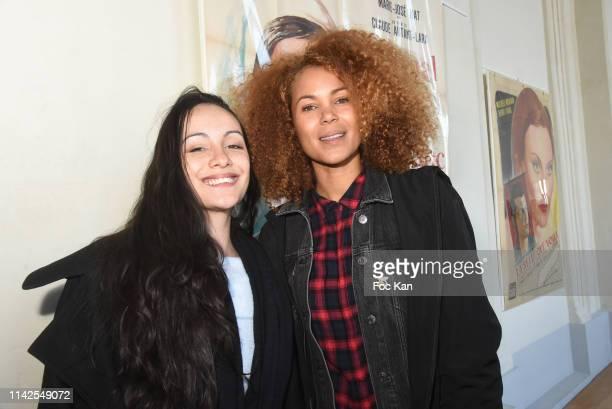 Marie Nine and Tiga aka Sophie Ducasse attend the Journees Nationales Du Livre Et Du Vin 2019 Day One In Saumur on April 13 2019 in Saumur France