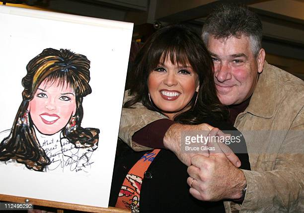 Marie Osmond and Brian Blosil during Donny Osmond and Marie Osmond Honored With Caricatures at Sardi's at Sardi's in New York City New York United...