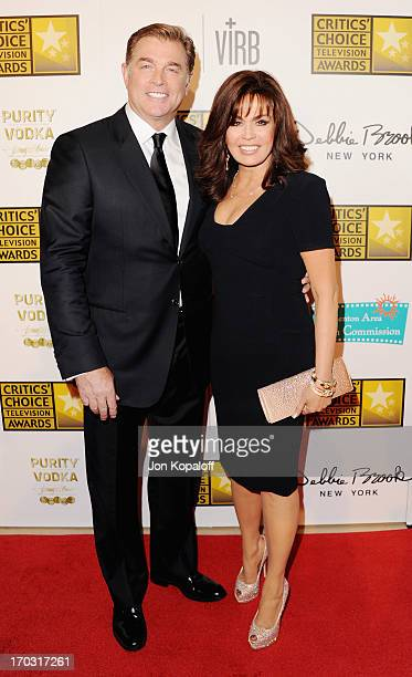 Marie Osmond and husband Steve Craig arrive at the BTJA Critics' Choice Television Award at The Beverly Hilton Hotel on June 10 2013 in Beverly Hills...