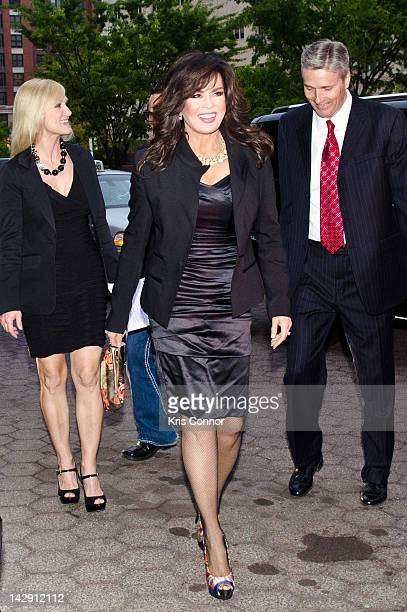 Marie Osmond arrives at the 6th annual Fashion for Paws Runway Show at National Building Museum on April 14 2012 in Washington DC