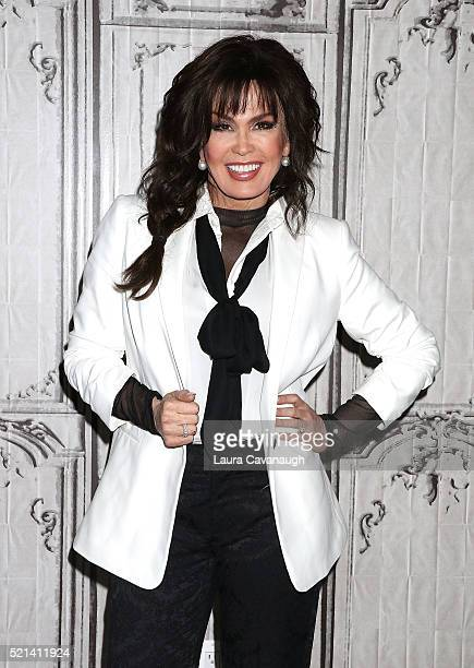 Marie Osmond attends AOL Build Speaker Series to discuss Music is Medicine at AOL Studios In New York on April 15 2016 in New York City