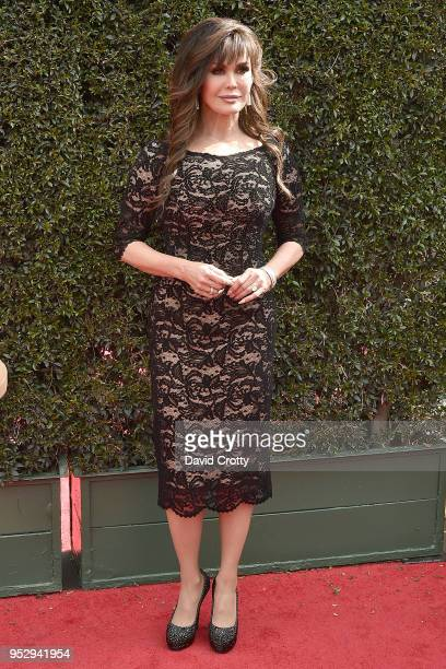 Marie Osmond attends the 2018 Daytime Emmy Awards Arrivals at Pasadena Civic Auditorium on April 29 2018 in Pasadena California