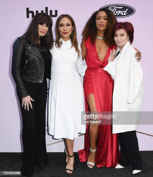 Marie Osmond, Carrie Ann Inaba, Eve and Sharon Osbourne attend the 13th Annual Essence Black Women In Hollywood Awards Luncheon at the Beverly...