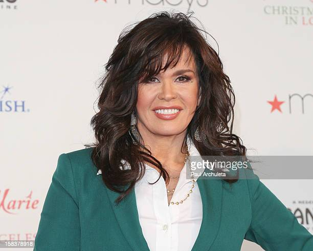 Marie Osmond of Donnie and Marie host the MakeAWish and Believe Day at Macy's Pasadena at Macy's on December 14 2012 in Pasadena California
