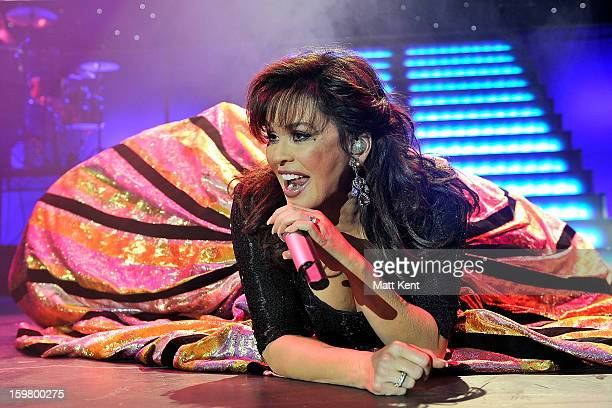 Marie Osmond performs at the Donny and Marie Osmond concert at the 02 Arena on January 20 2013 in London England