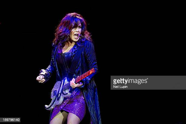 Marie Osmond performs on stage in concert with Donny Osmond at O2 Arena on January 20 2013 in London England
