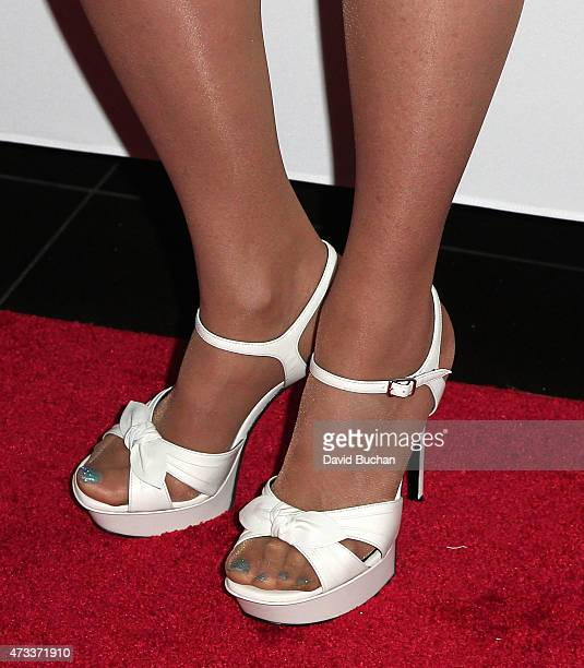 Marie Osmond shoe detail attends the Jennifer Lopez and Marie Osmond Launch 'Put Your Money Where The Miracles Are' Campaign at Avalon on May 14 2015...