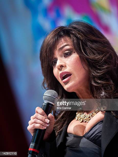 Marie Osmond speaks during the 6th annual Fashion for Paws Runway Show at National Building Museum on April 14 2012 in Washington DC