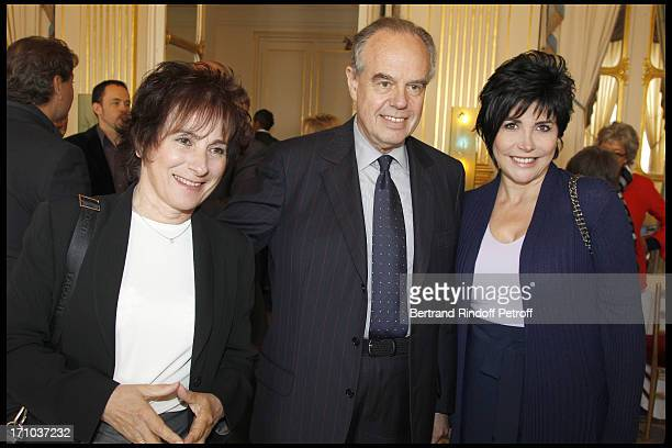 Marie Paule Belle Frederic Mitterrand Liane Foly at 1st Edition Of The Barbara Prize At Culture Ministry