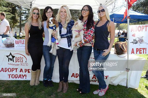 Marie Peluso Pamela Horton Crystal Hefner Caya Hefner and Melissa Dawn Taylor attend the PetCare Foundation's Woofstock 90210 at Roxbury Park on...