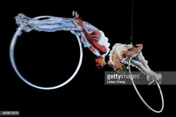 Marie Pierre Leray of France performs during the 2014 Artistry On Ice Beijing at Beijing MasterCard Center on July 25 2014 in Beijing China