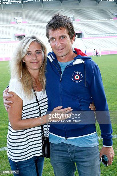 Marie Poniatowski and director Pierre Rambaldi attend the Football match for the benefit of the association 'Plus fort la vie' at Stade Jean Bouin on...