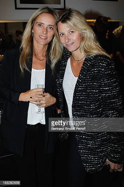 Marie Poniatowski and her sister Sarah Poniatowski Lavoine attend the Buccellati Blossom Butterfly and Daisy new collection presentation with the 4th...