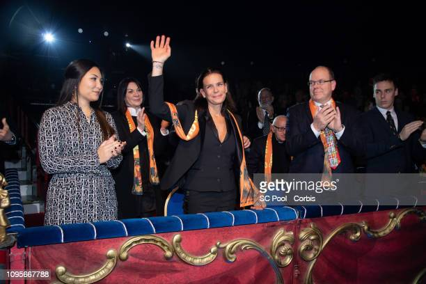 Marie, Princess Stephanie of Monaco, Prince Albert II of Monaco and Louis Ducruet attend the opening ceremony of of Monte-Carlo on January 17, 2019...