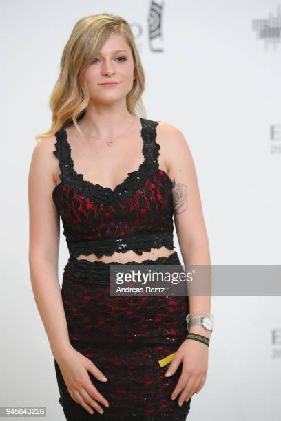 Marie Reim arrives for the Echo Award at Messe Berlin on April 12 2018 in Berlin Germany