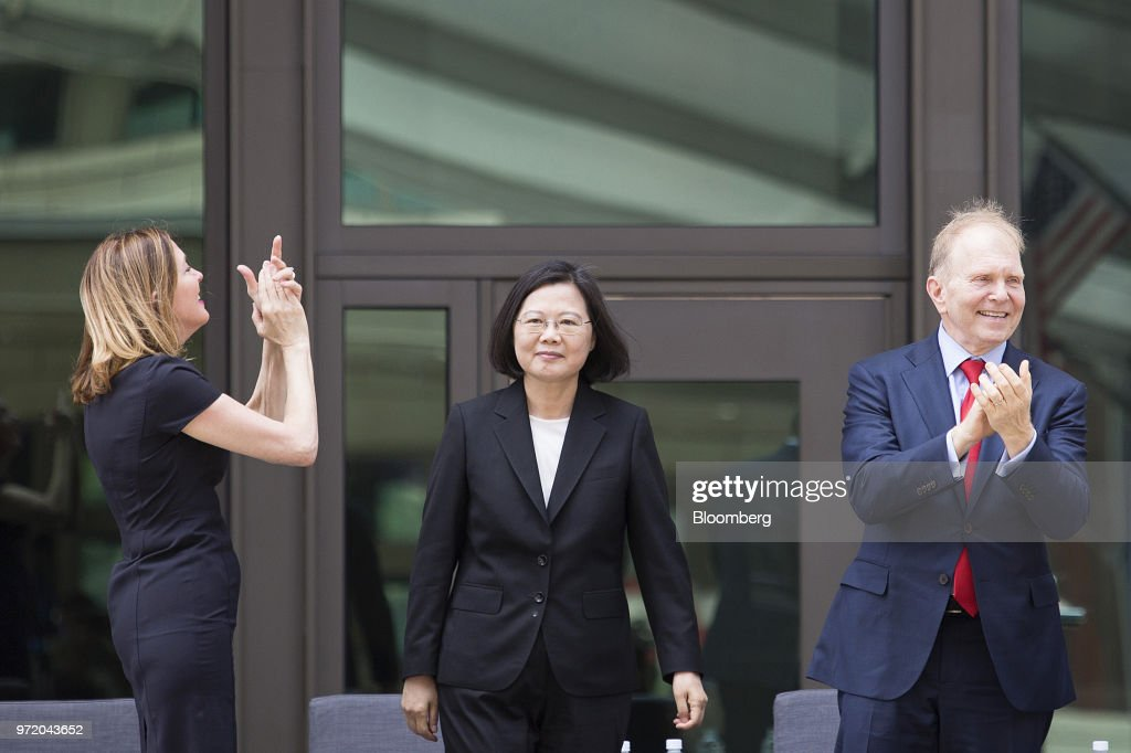 Taiwan President Tsai Ing-wen Attends Dedication Ceremony for American Institute in Taiwan's New Building : News Photo