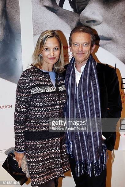Marie Saldmann and Doctor Frederic Saldmann attend 'Un Homme et Une Femme' screening for its 5Oth Anniversary at l'Arlequin on November 6 2016 in...