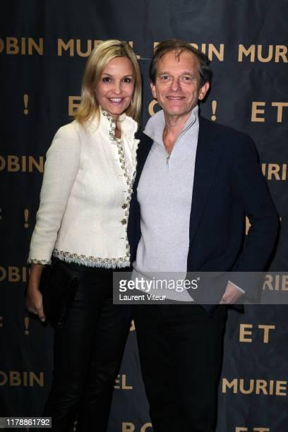 Marie Saldmann and Frédéric Saldmann attend the Et Pof Muriel Robin One Woman Show At Palais Des Sports on October 03 2019 in Paris France