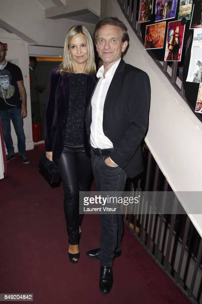 Marie Saldmann and Frederic Saldmann attend 'Trophee Du BienEtre' award ceremony at Theatre des Mathurins on September 18 2017 in Paris France