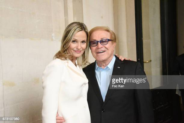 Marie Saldmann and Orlando attend 'Dalida Une Garde Robe De la Ville A la Scene' Dresses Exhibition Preview at Musee Galliera on April 25 2017 in...