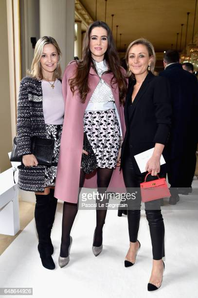 Marie Saldmann Celia Jaunat and a guest attend the Giambattista Valli show as part of the Paris Fashion Week Womenswear Fall/Winter 2017/2018 on...