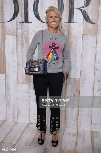 Marie Sara attends the Christian Dior Couture S/S19 Cruise Collection Photocall At Grandes Ecuries De Chantillyon May 25 2018 in Chantilly France