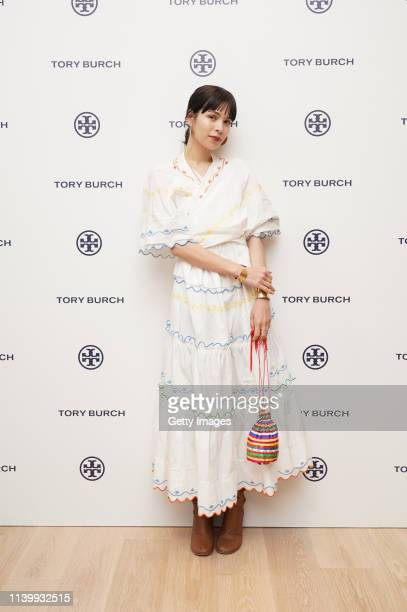 Marie Sara attends the Tory Burch Ginza Boutique Opening on April 02 2019 in Tokyo Japan