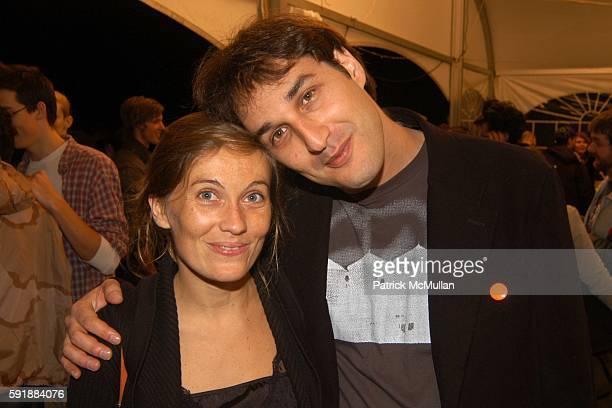 Marie Saubaitre and Shai Kremer attend Art Commerce 2005 Festival of Emerging Photographers at DUMBO Tobacco Warehouse on October 14 2005 in New York...