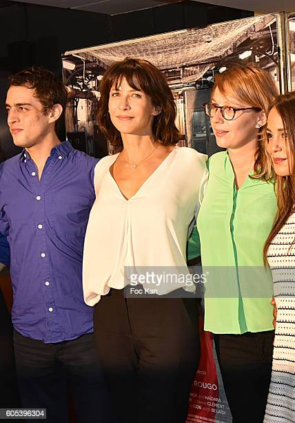 Marie Sohna Conde Alice Belaidi Audrey Estourgo Sophie Marceau and Benjamin Siksou attend 'La Taularde' Paris Premiere At UGC Cine Cite Les Halles on...