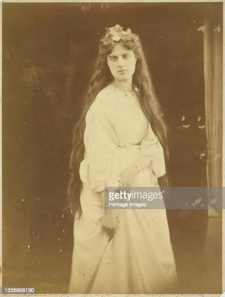 Marie Spartali, September 1868. A work made of albumen print. Artist Julia Margaret Cameron.