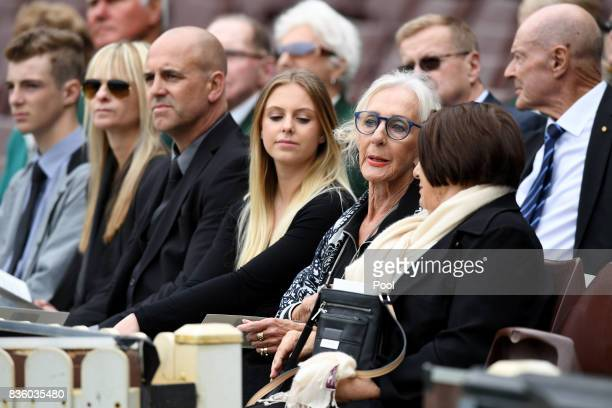 Marie the twin sister of Betty Cuthbert attends a State Memorial Service for Australian Olympian Betty Cuthbert at the Sydney Cricket Ground in...