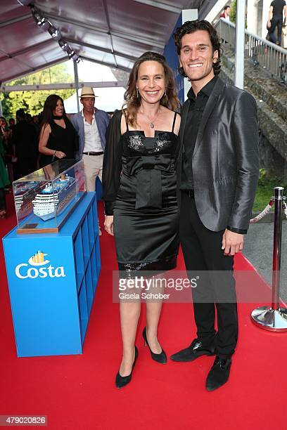 Marie Theres Kroetz Relin Vladimir Korneev attend the Movie meets Media party during the Munich Film Festival on June 29 2015 in Munich Germany