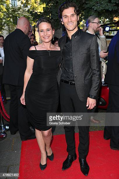 Marie Theres Kroetz Relin Vladimir Korneev during the Peugeot BVC Castingnight Summer 2015 at Kaeferschaenke on June 28 2015 in Munich Germany