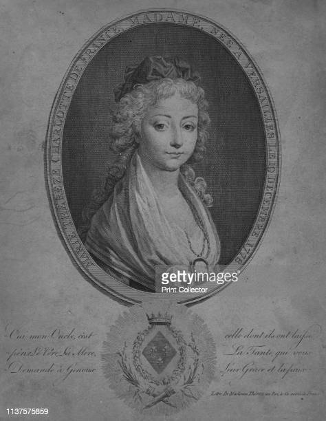 Marie Therese of Angouleme, Duchesse de Bourbon, early 19th century? Portrait of Marie Therese of Angouleme, Duchesse de Bourbon , daughter of King...