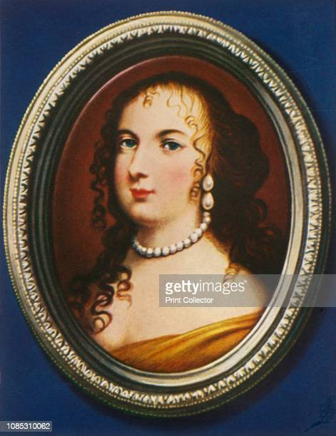 Marie Therese Von Spanien' Portrait of Maria Theresa of Spain wife of King Louis XIV Queen consort of France and Navarre After a miniature by Jean...