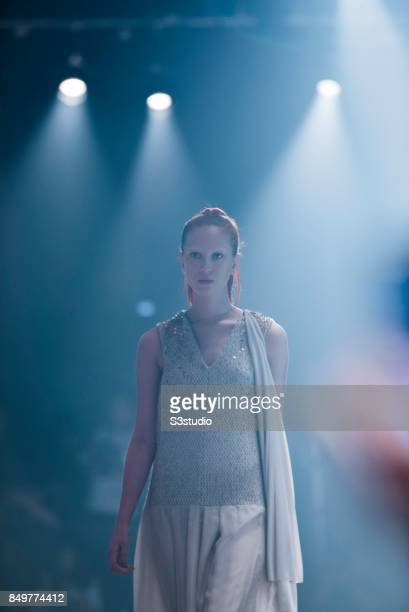 Marie Van Goethem by Grace CY Lam during the Visceral Instinct show by Raffles Hong Kong as part of the Fashion Week for Spring / Summer 2015 at the...