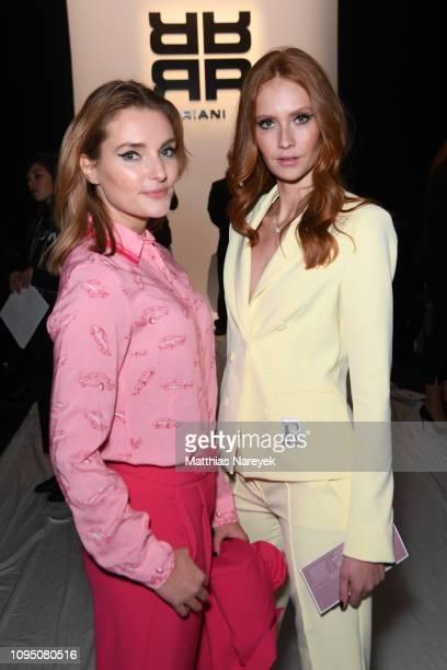 Marie von den Benken and Sandra Hunke attend the Riani show during the Berlin Fashion Week Autumn/Winter 2019 at ewerk on January 16 2019 in Berlin...