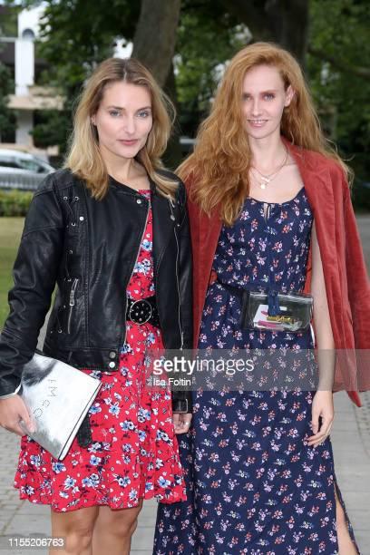 Marie von den Benken and Sandra Hunke during the Ernsting's family Fashion Show 2019 on July 11 2019 in Hamburg Germany