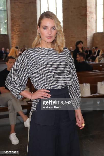 Marie von den Benken attends the Nobi Talai fashion show during the Berlin Fashion Week Spring/Summer 2020 at Parochialkirche on July 04 2019 in...