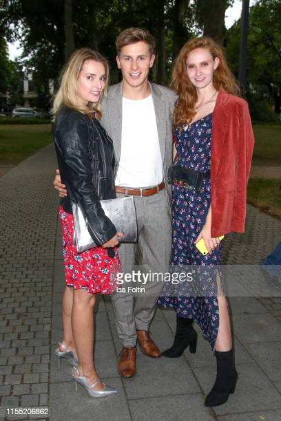 Marie von den Benken Lukas Sauer and Sandra Hunke during the Ernsting's family Fashion Show 2019 on July 11 2019 in Hamburg Germany