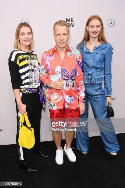 Marie von den Benken Oliver Pocher and Sandra Hunke attend the Sportalm Kitzbuehel show during the Berlin Fashion Week Spring/Summer 2020 at ewerk on...