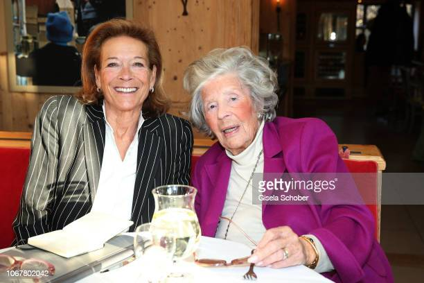 Marie von Waldburg and Princess Marianne zu SaynWittgensteinSayn known as photographer Mamarazza poses during a photo shooting before her 99th...