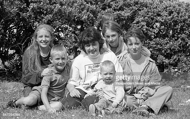 Marie Walsh and her five children who went to dinner with actress Debra Winger The movie 'Divine Rapture' was being filmed in Ballycotton Co Cork...