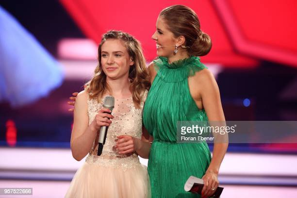 Marie Wegener and Victoria Swarovski during the 8th show of the 11th season of the television competition 'Let's Dance' on May 11 2018 in Cologne...