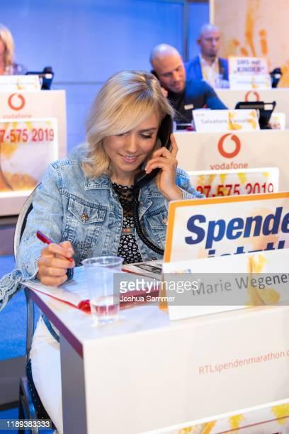 Marie Wegener during the 24th RTL Telethon on November 22 2019 in Huerth Germany