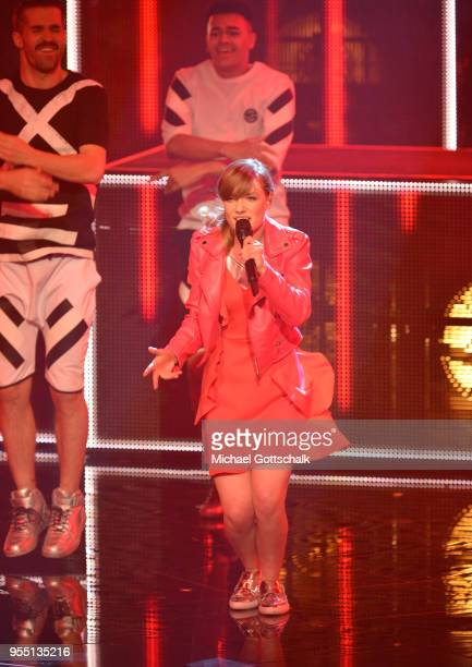 Marie Wegener during the finals of the tv competition 'Deutschland sucht den Superstar' at Coloneum on May 5, 2018 in Cologne, Germany.