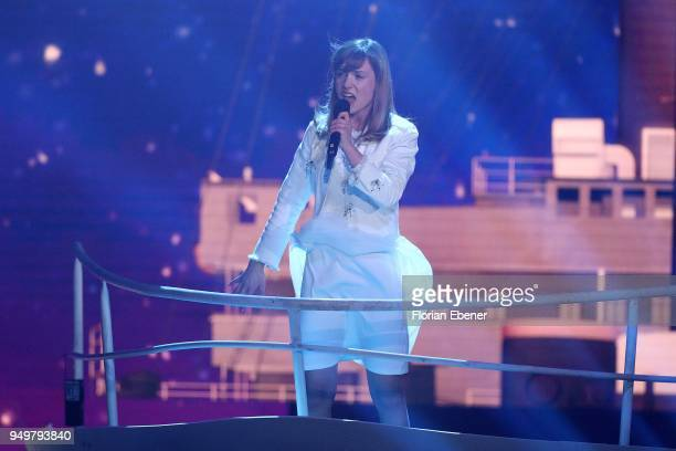 Marie Wegener during the second event show of the tv competition 'Deutschland sucht den Superstar' at Coloneum on April 21 2018 in Cologne Germany...