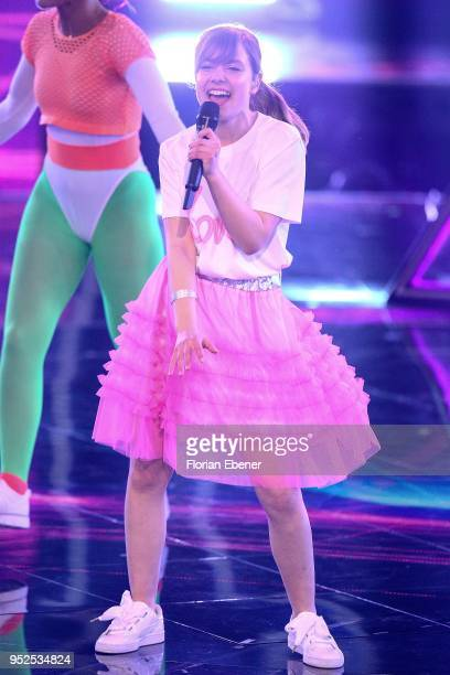 Marie Wegener during the semi finals of the TV competition 'Deutschland sucht den Superstar' at Coloneum on April 28, 2018 in Cologne, Germany. For...