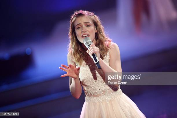 Marie Wegener perform on stage during the 8th show of the 11th season of the television competition 'Let's Dance' on May 11 2018 in Cologne Germany