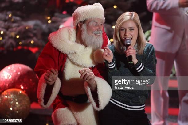 Marie Wegener performs during the charity tv show 'Die schoensten WeihnachtsHits' in favor of MISEREOR and Brot fuer die Welt on December 5 2018 in...